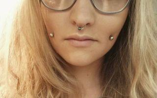 Пирсинг щеки: процедура прокола и выбор украшения